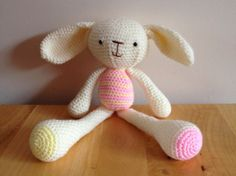 Amigurumi spring bunny. by Christinescraftbox on Etsy