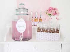 Wedding DIY Bar or drinks station