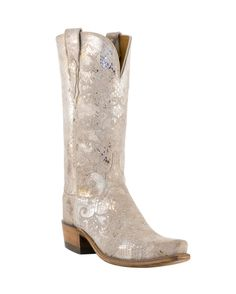 Western Cowboy Boots I Love !!!  Lucchese Women's Stone Python Print Boot