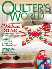 Quilting Magazines - Quilter's World Autumn 2013. Patterns:  Golden Rings and Striped Pieced Pillows by Connie Kauffman