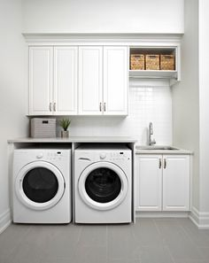 The Marycroft   Model Interior   Traditional   Laundry Room   Toronto    Albert David Design Inc. Countertop On Top Of Washer And Dryer, ...