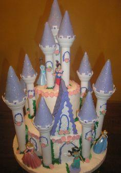 cake castillo princesas disney