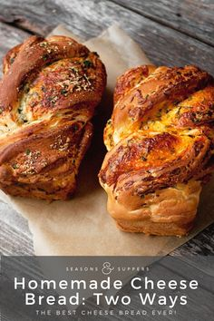 Seasons & Suppers - Soft Cheese Bread: Two Ways (Parmesan Herb & Garlic / Cheddar and Herb) via Artisan Bread in Five Bagels, Homemade Cheese, Homemade Recipe, Bread Recipes, Cooking Recipes, Cooking Tips, Healthy Recipes, Pasta Casera, Herb Bread