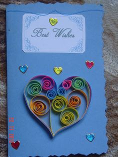 Art of quilling, Greeting cards, Paper craft