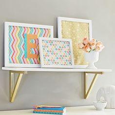 Gold Bracket Shelf #