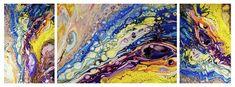 Fluid Acrylic Painting Painting by Jenny Rainbow Triptych Art, Fluid Acrylics, Star Sky, Fine Art Photography, Feathers, Fine Art Prints, Art Pieces, Rainbow, Wall Art