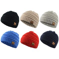 435a3ab3e10 Zando Knit Baby Hats Beanies for Boys and Girls Infant Toddler Winter Warm  Hats Caps 6