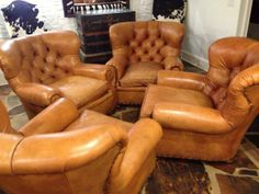 4 leather club chairs Los Angeles, CA