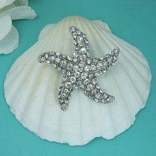 Starfish Rhinestone Brooch, Wedding Brooch, Bridal Brooch, wedding brooches, wedding dress pin, bridal dress brooch, starfish accessories