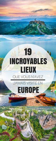 Aujourd'hui, j'ai sélectionné une liste de 19 lieux incroyables en Europe, que vous ne connaissez surement pas ! Alors...