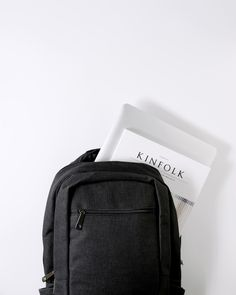 A bag that holds all you need. Black Linen, Fashion Backpack, Traveling By Yourself, Minimalist, Backpacks, Bags, Collection, Handbags, Taschen