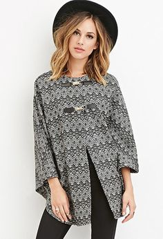 Geo-Patterned Poncho   Forever 21 - 2000141639