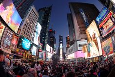 Times Square, Fisheye, New York City, United States New York City, Times Square, United States, Canada, The Unit, Usa, Travel, Viajes, New York
