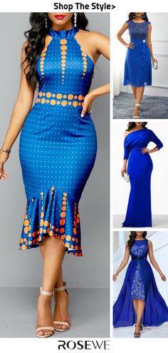 Cute Fashion Blue Summer Dress for 2019 By Diyanu Short African Dresses, Latest African Fashion Dresses, African Print Fashion, Women's Fashion Dresses, Casual Dresses, Shweshwe Dresses, Blue Summer Dresses, African Traditional Dresses, African Attire