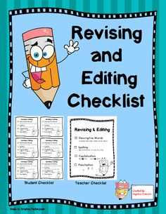This FREE product is a simple solution to ensure students are editing and revising their writing. This quick and easy checklist provides students w...