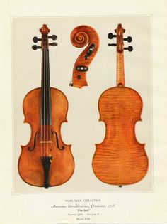 1925 Antique Print Showing a Stradivarius Violin. The Soil. $9.50, via Etsy.