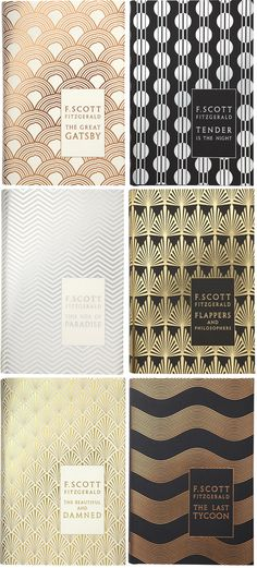 Gorgeous book covers Part 1 - the F. Scott Fitzgerald collection. #bookshelf #eyecandy