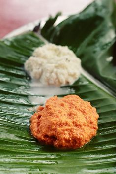 Fresh Coconut Chutney - Red and White