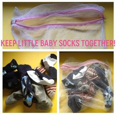 Wash baby socks together in a laundry bag so you never lose another one again.