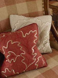 Colefax and Fowler, Linen Embroideries. Available at James Brindley, www.jamesbrindley.com.