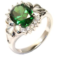 Classic Emerald Promise Ring