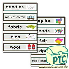 Classroom Equipment Drawer Labels & Posters - Primary Treasure Chest Teaching Activities, Teaching Ideas, Drawer Labels, Classroom Signs, Classroom Organisation, Treasure Chest, Wool Felt, Crafts For Kids, Posters