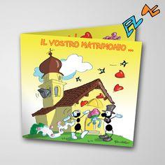 Biglietto musicale Matrimonio (FV07-12)   Le Formiche di Fabio Vettori #formiche #fabiovettori #biglietto #auguri #musica #music #fun #regalo #gift #matrimonio #innamorati #love #sposi
