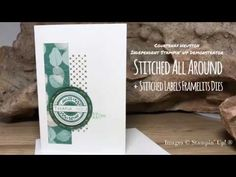 Stampin' Up! Stitched All Around Thank You Card - making cards in bulk using the Stamparatus