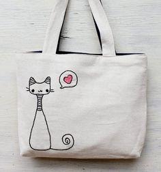 Сумка с вышивкой кот                                                                                                                                                                                 Mais
