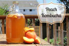 Peach Kombucha Recipe #paleo #kombucha