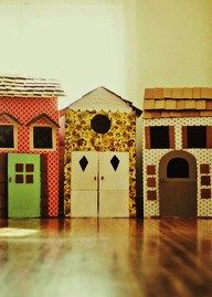 DIY Houses made with boxes.