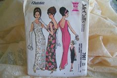 Uncut Vintage 60s Dress Party Evening Cocktail Dress McCall's Pattern