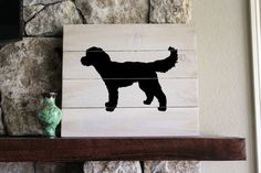 Goldendoodle Silhouette Black   White-Washed by elhdesign77
