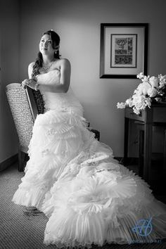 Bride posing after she got ready.