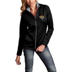 Jacksonville Jaguars Antigua Women's Leader Full-Zip Performance Jacket - Black - $53.99