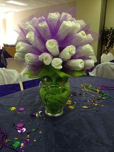 Mardi Gras baby shower diaper bouquet!!
