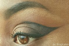 Dramatic winged liner look by Cilla Glamm
