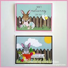 Christine's Creative Capers Close To My Heart Stamp Of The Month Easter Bunny