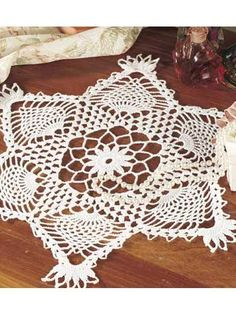 Pineapple Cluster Doily Crochet Pattern - free membership required