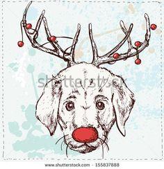 Christmas Animals stockillustrationer och tecknade figurer | Shutterstock