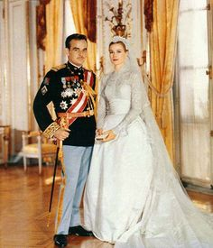 Grace Kelly married Prince Rainier III of Monaco on April 19, 1956 at St. Nicholas Cathedreal