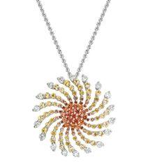 Ombre Sapphire Sun Pendant from Artistry Ltd.; MSRP: $2,955