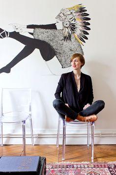 Top Ba&sh, Jean Zara, Chaussures Repetto, Stickers trouvé à Londres