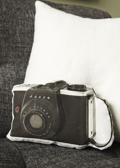 Ansco Camera Canvas Printed Pillow
