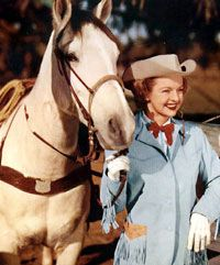 Dale Evans and Buttermilk - the first famous movie-TV buckskin that I know of.