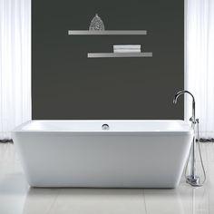 "Ove Decors Kido 69'' x 23"" Acrylic Freestanding Bathtub | AllModern"