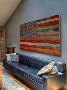 distressed, layered, reclaimed wood American Dream Art by Parvez Taj - Gilt Home. ARE YOU KIDDING ME?  500 DOLLARS?