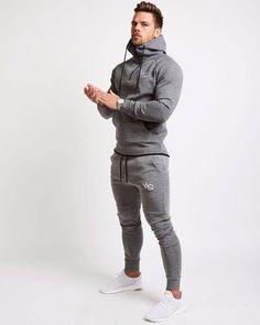 7c118872e6 Set Men's Fashion Sportswear Tracksuits Sets Men's Bodybuilding Hoodie –  myshoponline.com #mensfashionstyle