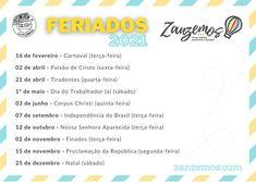 Nada melhor que planejar uma super viagem em alguns dos feriados O post Feriados em 2021: programe suas viagens! apareceu primeiro em Zanzemos.