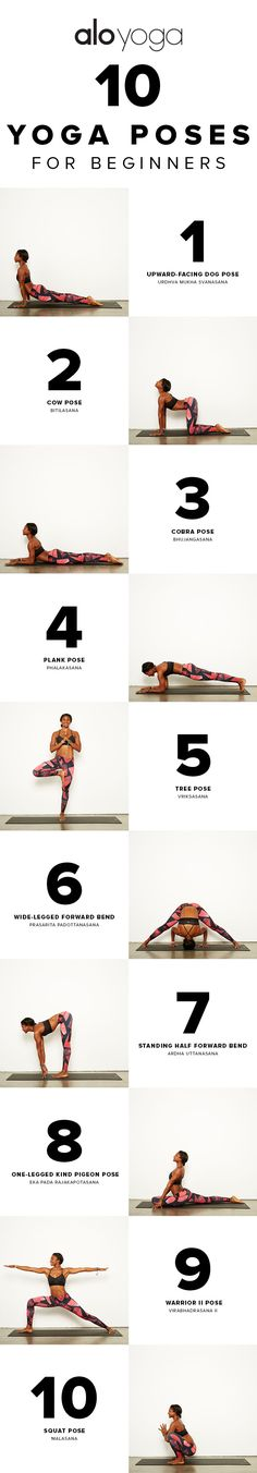 10 Yoga Poses For Beginners #yoga #sequence #inspiration #yogasequence http://www.aloyoga.com
